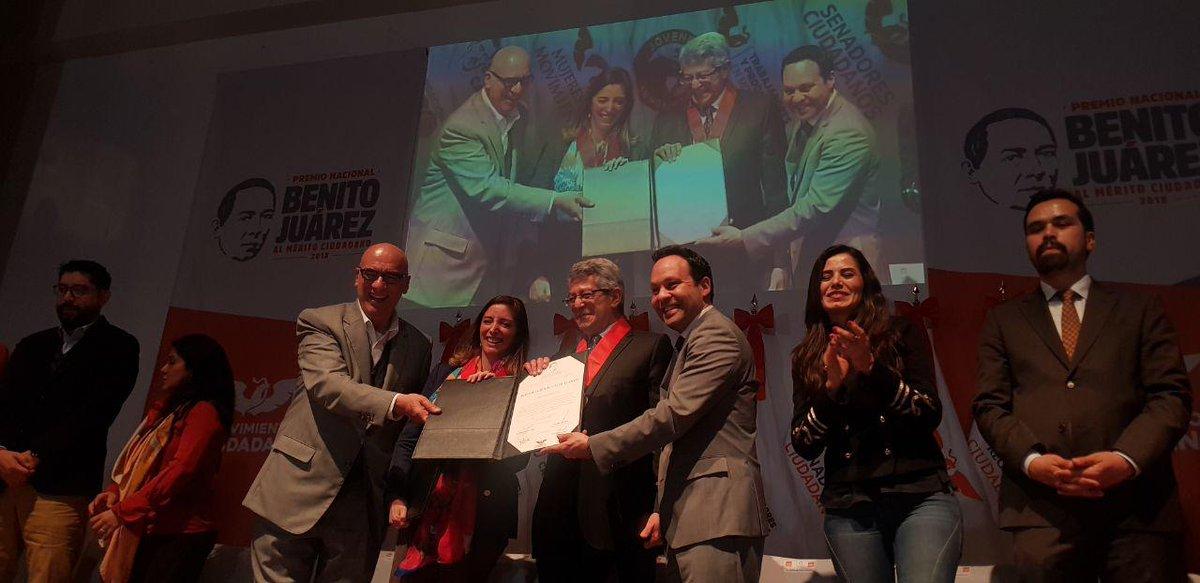 Lourdes Morales y Mauricio Merino son reconocidos con el Premio Nacional Benito Juárez al Mérito Ciudadano