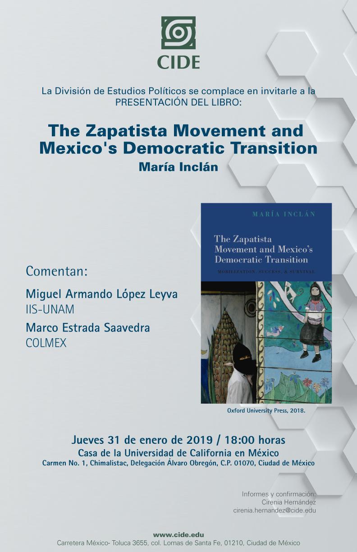 Presentación del libro «The Zapatista Movement and Mexico's Democratic Transition»