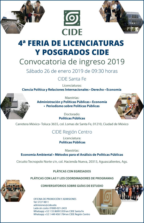 4a Feria de Licenciaturas y Posgrados CIDE