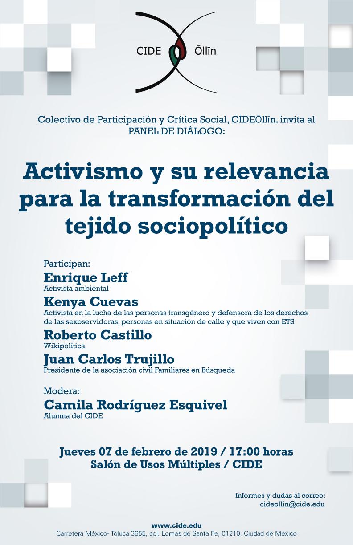 Panel Activismo y su relevancia para la transformación del tejido sociopolítico