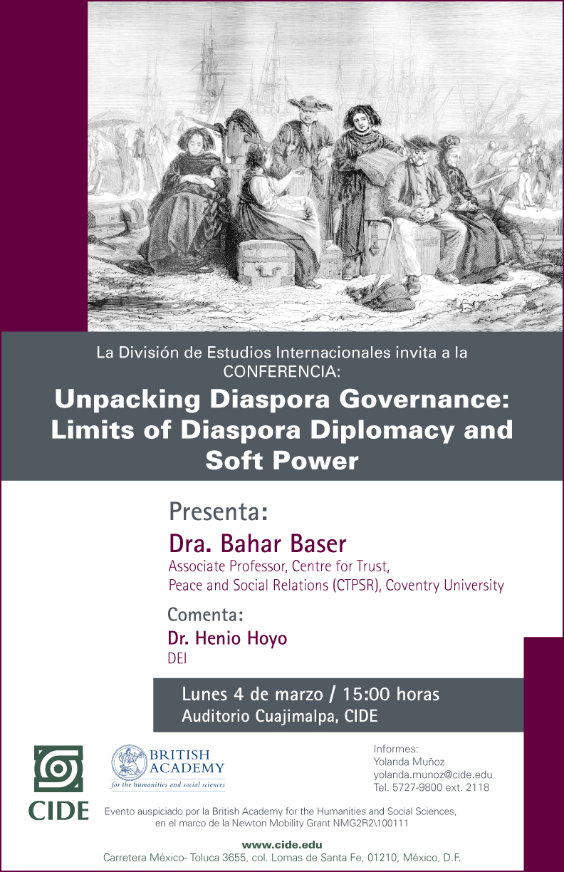 Conferencia Unpacking Diaspora Governance: Limits of Diaspora Diplomacy and Soft Power