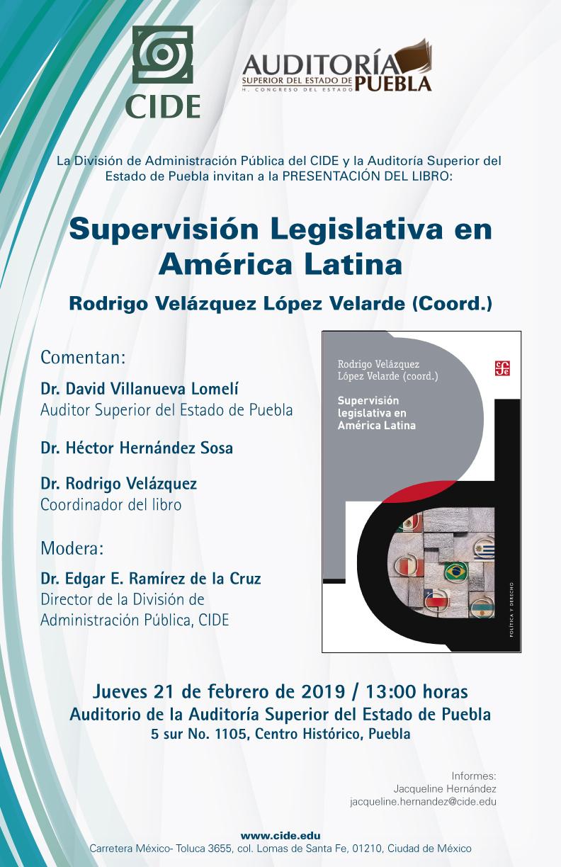 Presentación del libro Supervisión Legislativa en América Latina