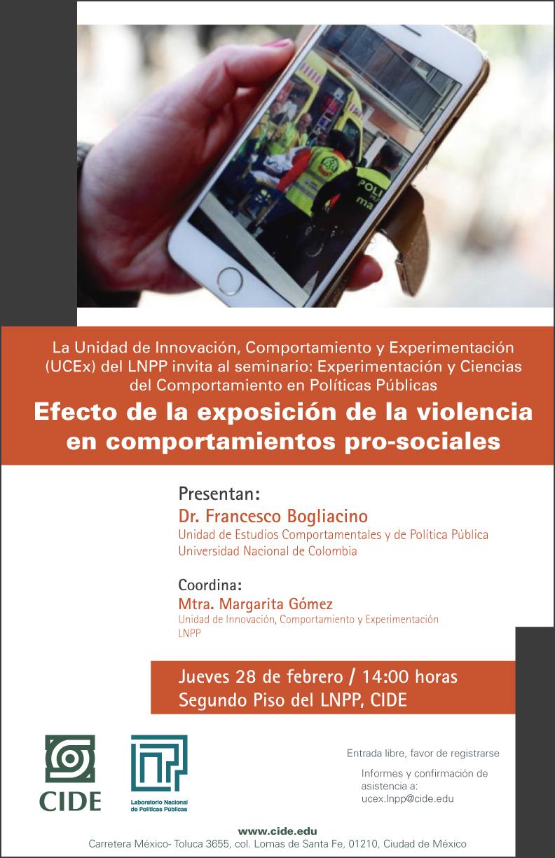 Seminario Efecto de la exposición de la violencia en comportamientos pro-sociales