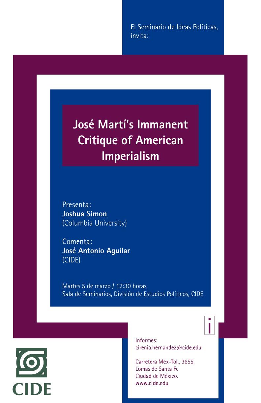 Seminario José Martí's Immanent Critique of American Imperialism