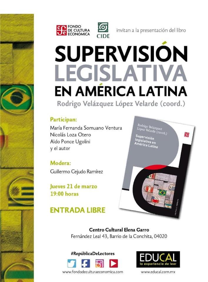 Presentación de libro Supervisión Legislativa en América Latina
