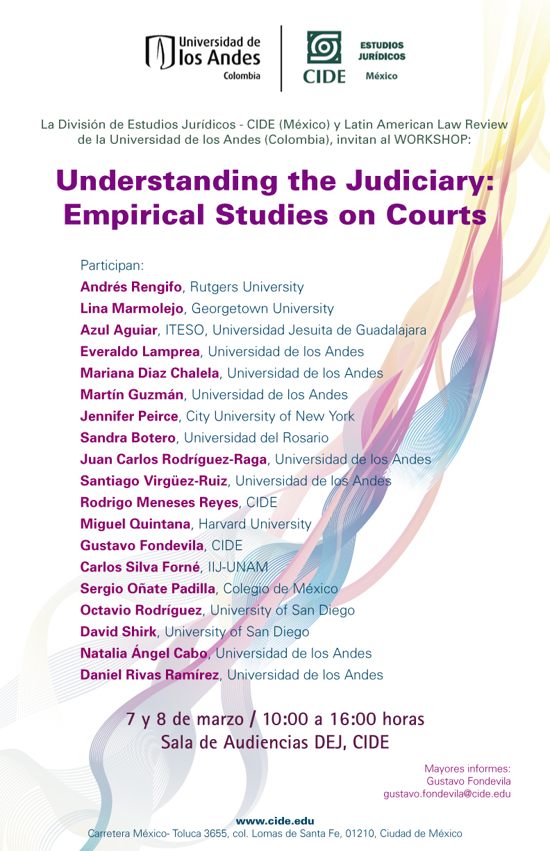 Workshop Understanding the Judiciary: Empirical Studies on Courts