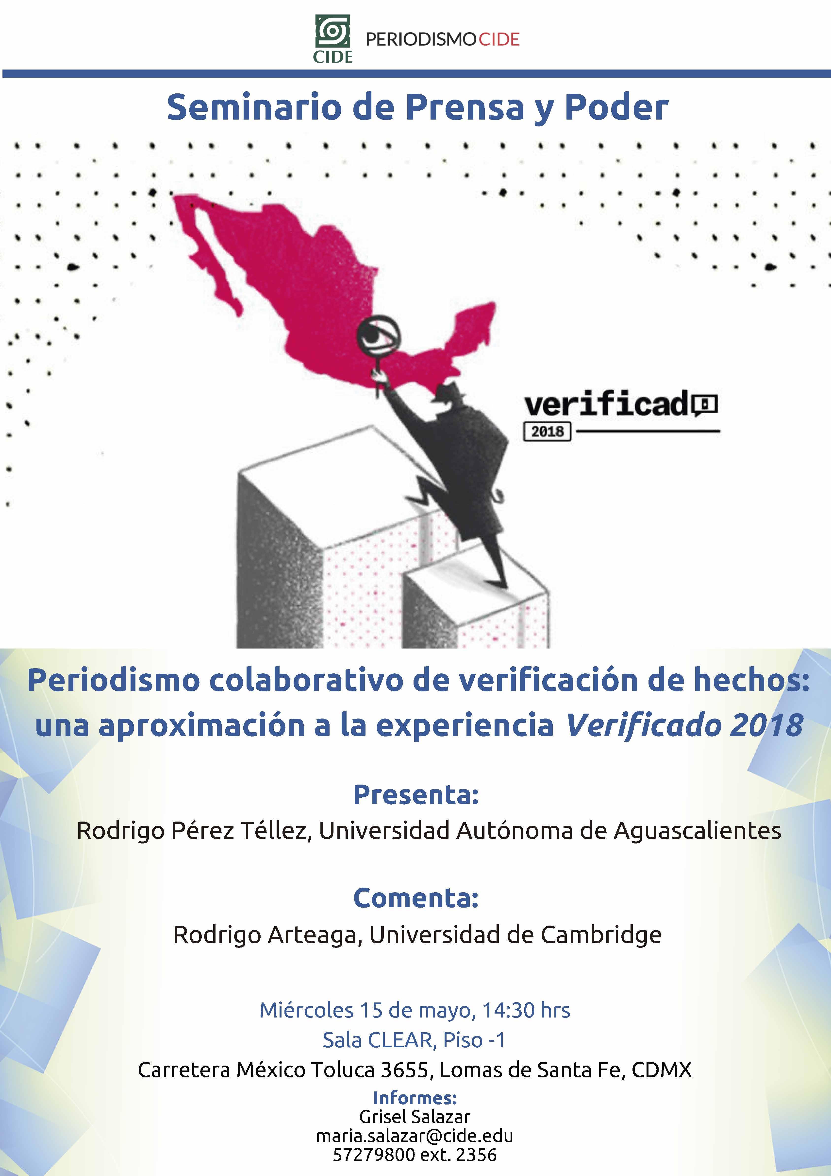 Seminario de Prensa y Poder Periodismo colaborativo de verificación de hechos: una aproximación a la experiencia Verificado 2018