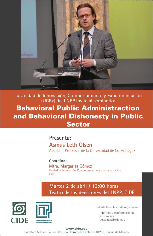 Seminario: Behavioral Public Administraction and Behavioral Dishonesty in Public Sector