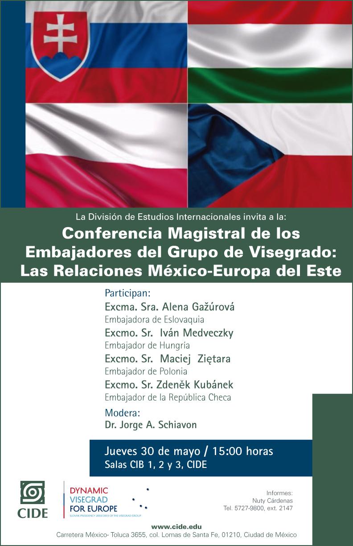 Conferencia Magistral de los  Embajadores del Grupo de Visegrado: Las Relaciones México-Europa del Este
