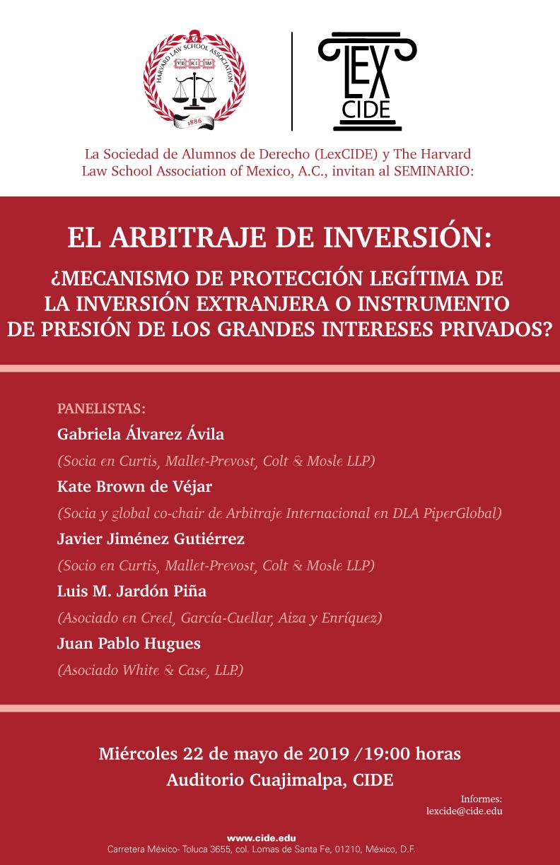 Seminario El Arbitraje de Inversión: ¿Mecanismo de protección legítima de la inversión extranjera o instrumento de presión de los grandes intereses privados?