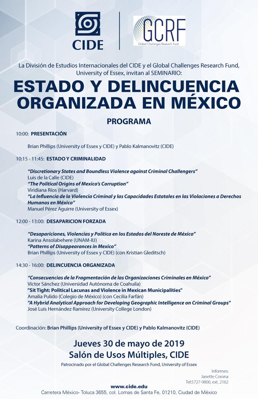 Seminario Estado y Delincuencia Organizada en México