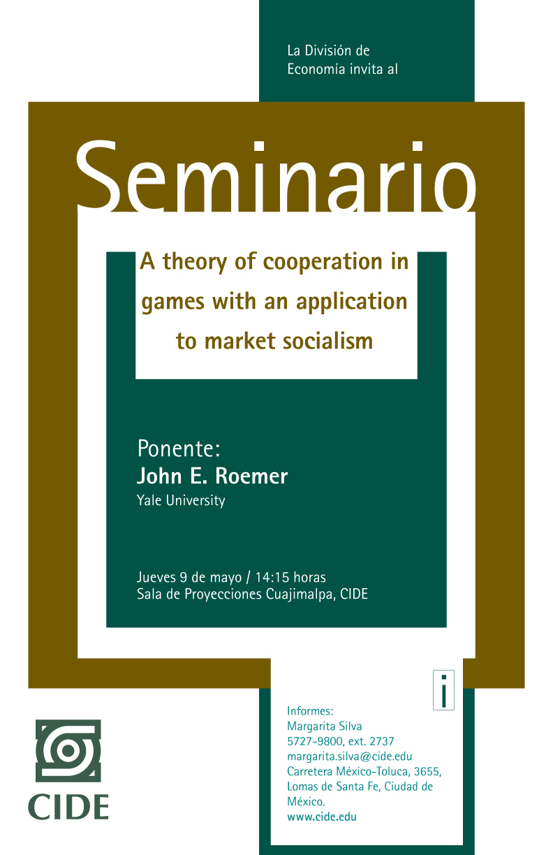 Seminario A theory of cooperation in games with an application to market socialism