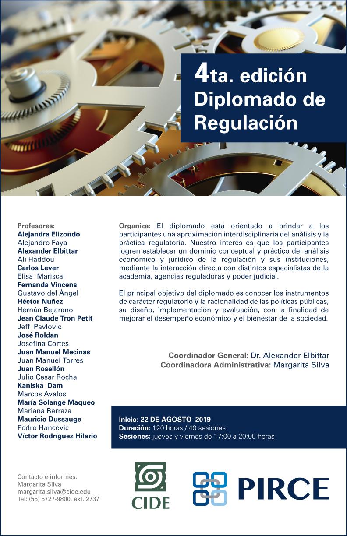 Diplomado en Regulación 4ta. edición