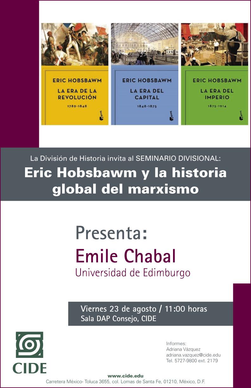 Seminario Eric Hobsbawm y la historia global del marxismo