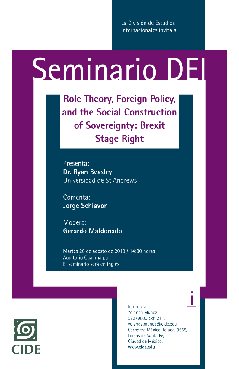 Seminario Role Theory, Foreign Policy, and the Social Construction of Sovereignty: Brexit Stage Right