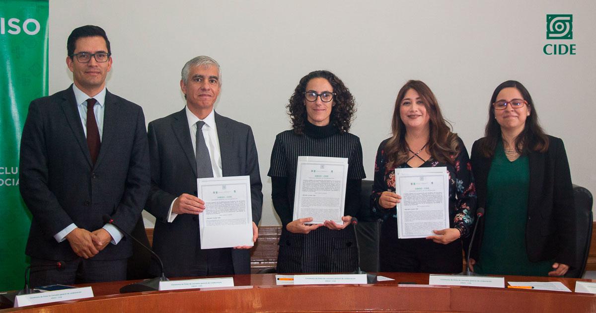 CIDE firma convenio de colaboración  con SIBISO de la Ciudad de México