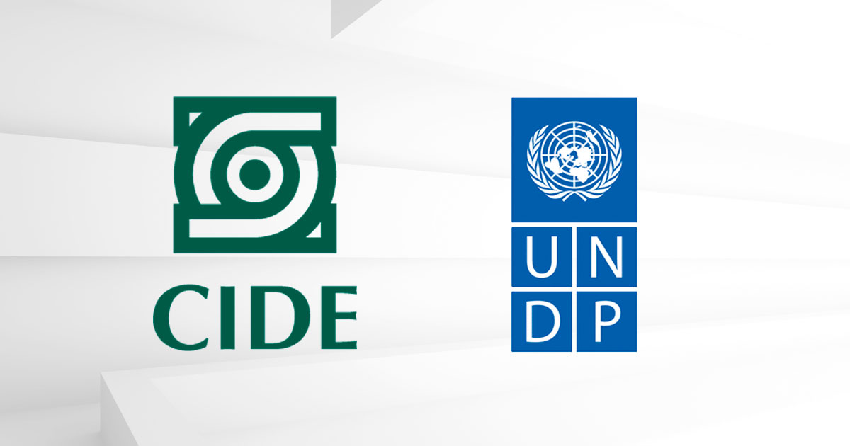 CIDE firma alianza con PNUD para América Latina y el Caribe