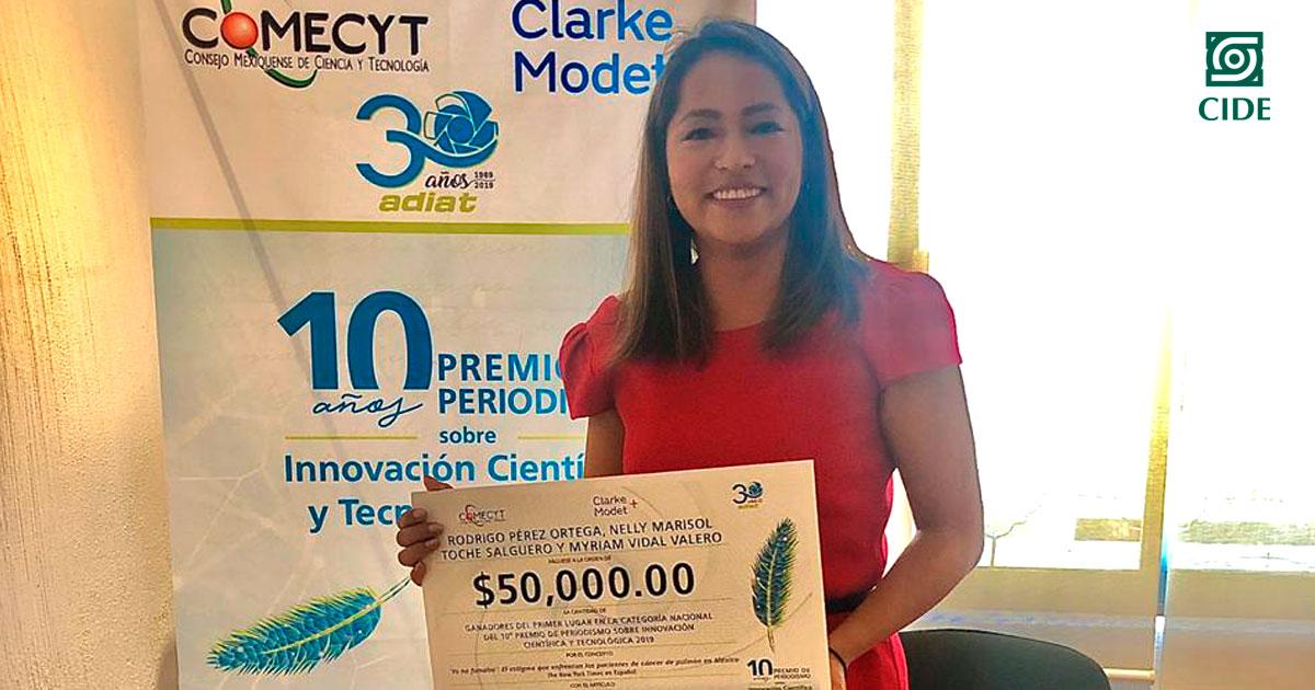 Estudiante de periodismo CIDE obtiene primer lugar en Premio de Periodismo