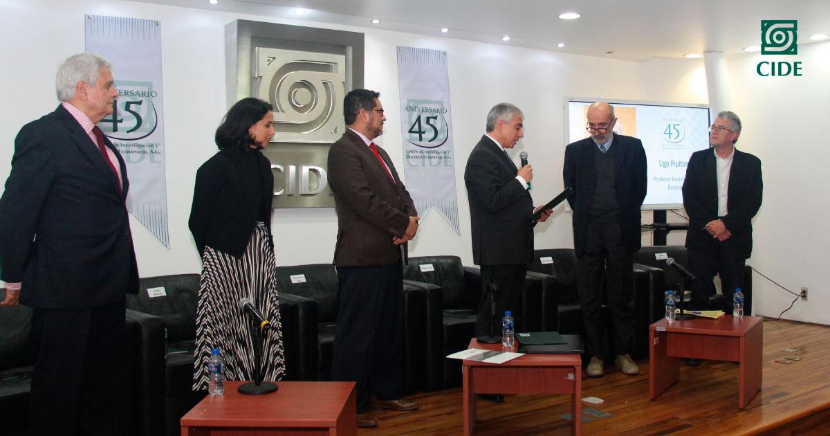 CIDE reconoce a Ugo Pipitone como Profesor Investigador Emérito