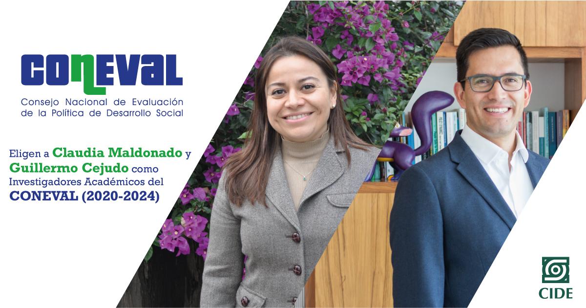 Eligen a Claudia Maldonado y Guillermo Cejudo como Investigadores Académicos del CONEVAL