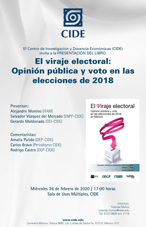 PRESENTACIÓN DEL LIBRO: El viraje electoral: Opinión pública y voto en las elecciones de 2018
