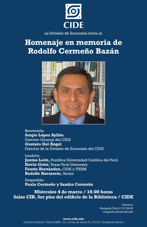 Homenaje en memoria de Rodolfo Cermeño Bazán