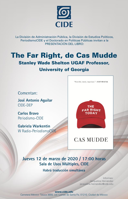 Presentación del libro: The Far Right, de Cas Mudde