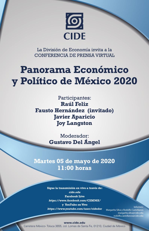 Conferencia de Prensa Virtual: Panorama Económico y Político de México 2020