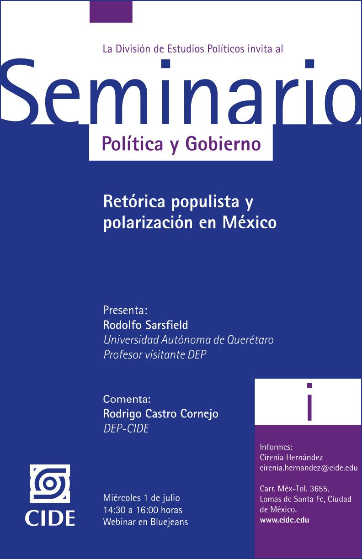 Seminario Retórica populista y polarización en México