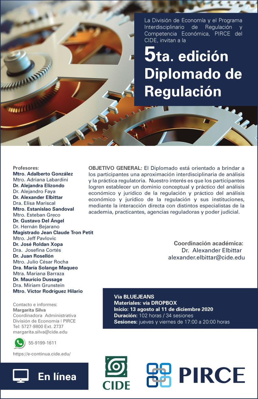 5ta. edición del Diplomado en Regulación