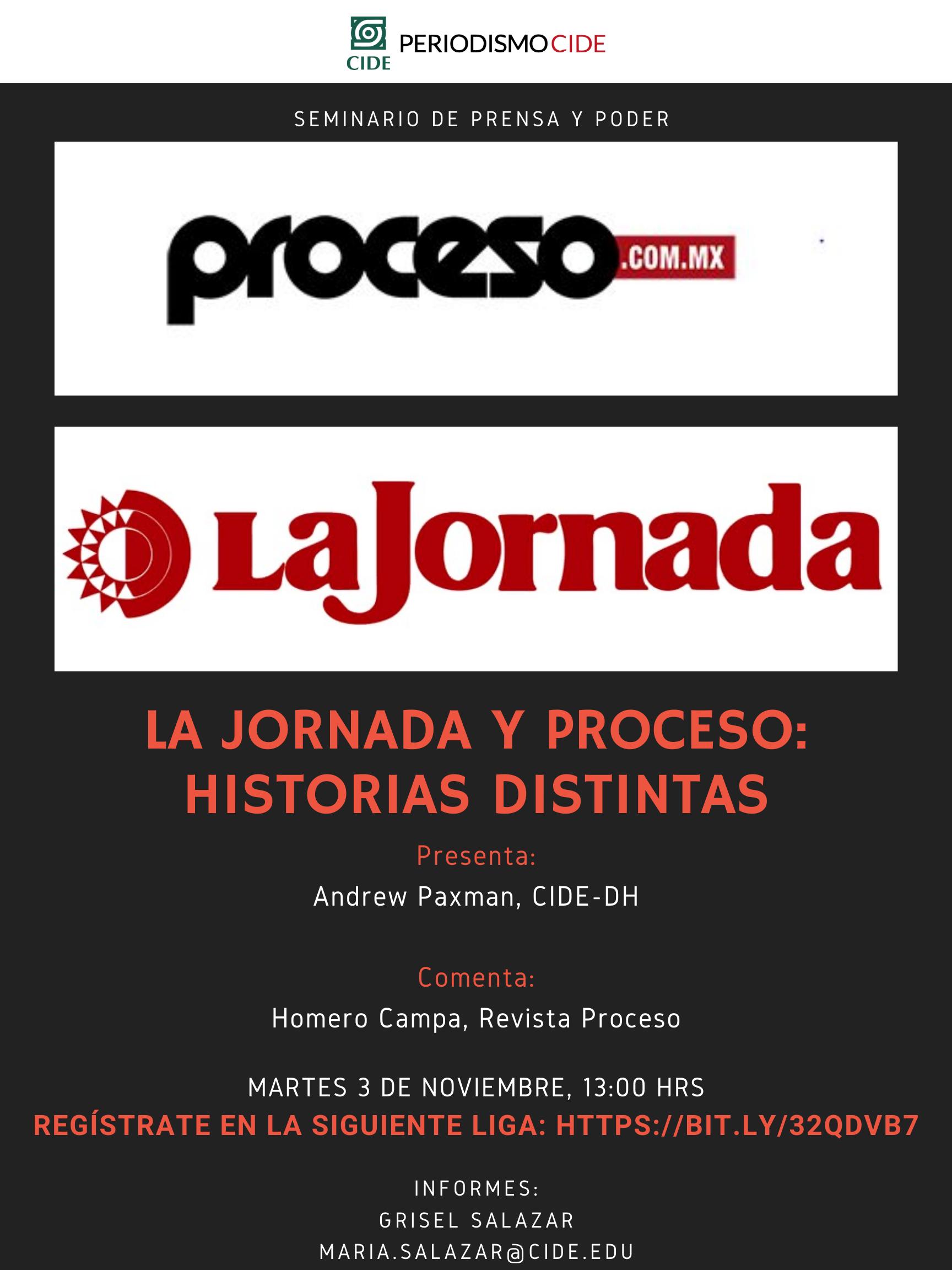 Seminario Interdisciplinario de Prensa y Poder: La jornada y proceso: historias distintas