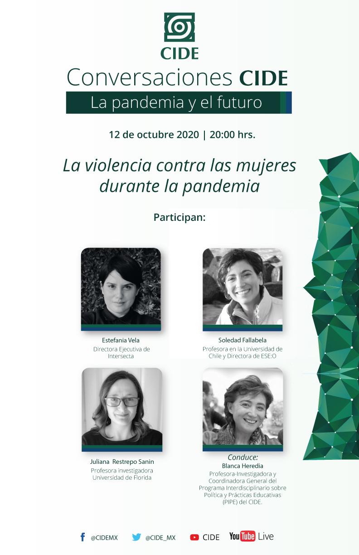 9a Sesión de CONVERSACIONES CIDE: La violencia contra las mujeres durante la pandemia