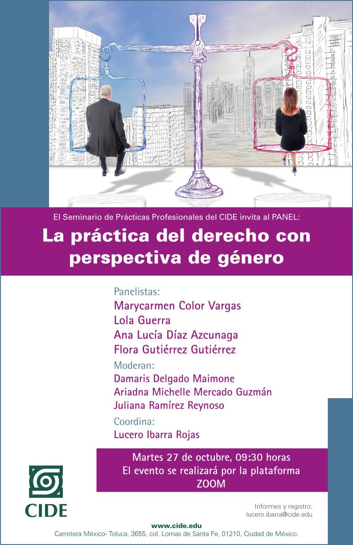 Panel: La práctica del derecho con perspectiva de género
