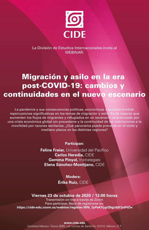 Webinar: Migración y asilo en la era post-COVID-19: cambios y continuidades en el nuevo escenario