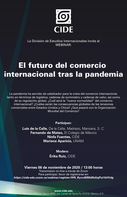 Webinar: El futuro del comercio internacional tras la pandemia