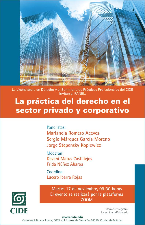 Seminario de Prácticas Profesionales: La práctica del derecho en el sector privado y corporativo
