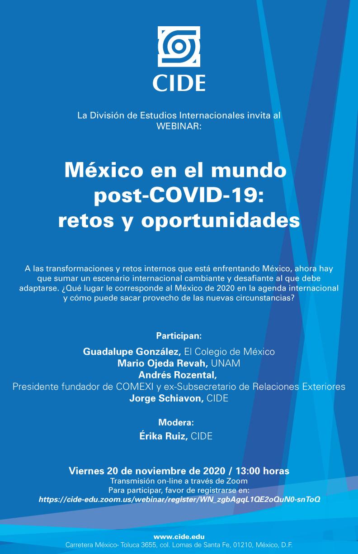Webinar: México en el mundo post-COVID-19: retos y oportunidades