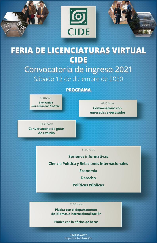 Feria de Licenciaturas Virtual CIDE