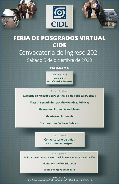Feria de Posgradros Virtual CIDE