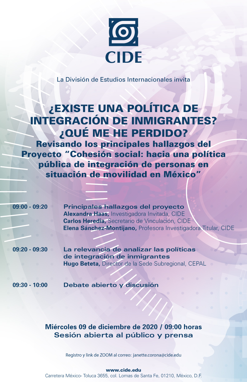 ¿Existe una Política de Integración de Inmigrantes? ¿Qué me he perdido? Revisando los principales hallazgos del Proyecto «Cohesión social: hacia una política pública de integración de personas en situación de movilidad en México»