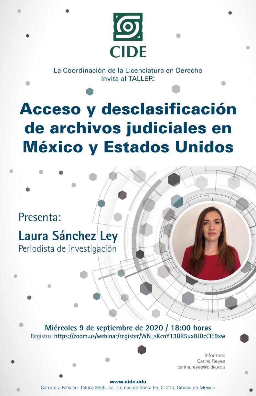Taller: Acceso y desclasificación de archivos judiciales en México y Estados Unidos