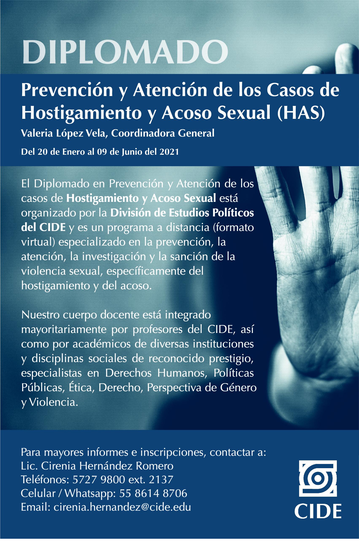 Diplomado en Prevención y Atención de los Casos de Hostigamiento y Acoso Sexual
