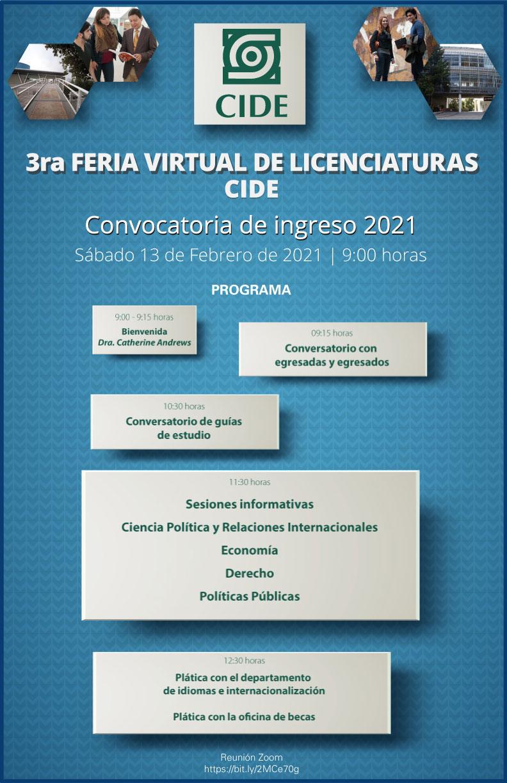 3a Feria Virtual de Licenciaturas CIDE