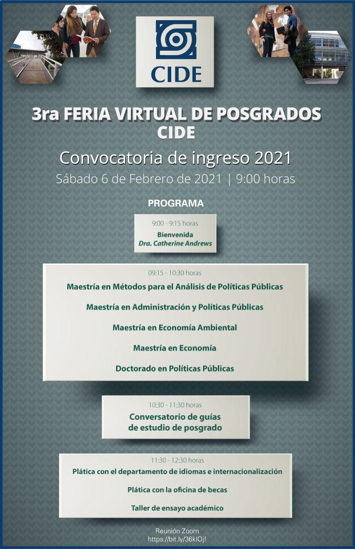 3a Feria Virtual de Posgrados CIDE