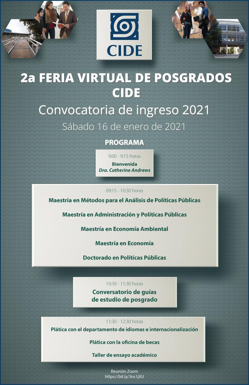 2a FERIA VIRTUAL DE POSGRADOS CIDE