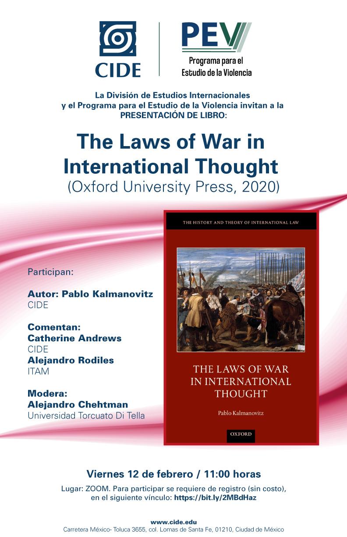 Presentación del libro: The Laws of War in International Thought (Oxford University Press, 2020)