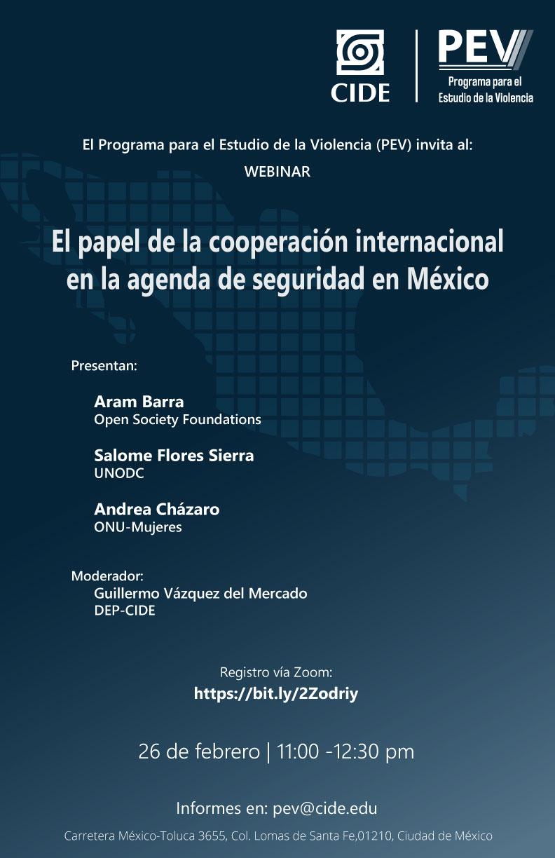 Webinar: El papel de la cooperación internacional en la agenda de seguridad en México