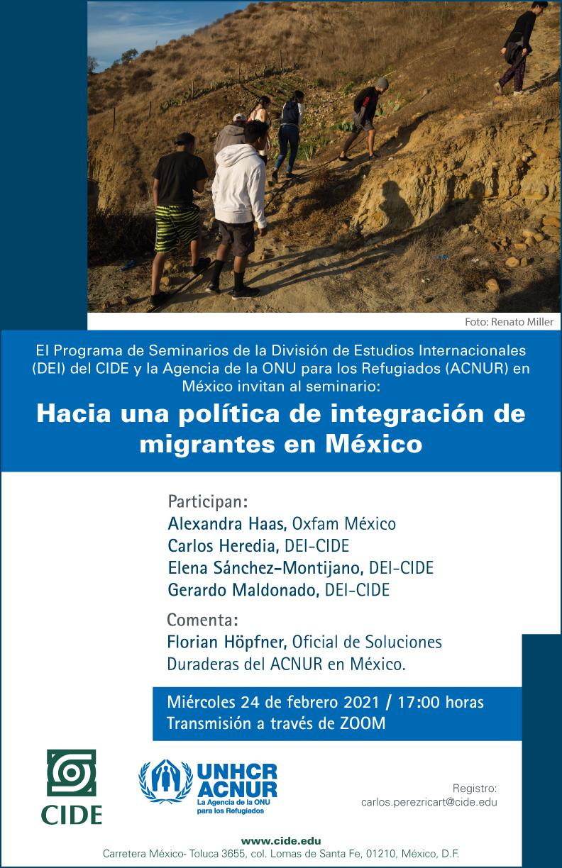 Seminario: Hacia una política de integración de migrantes en México