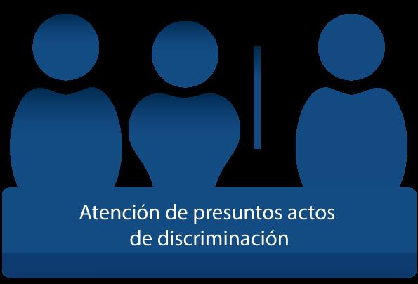 Atención de presuntos actos de discriminación