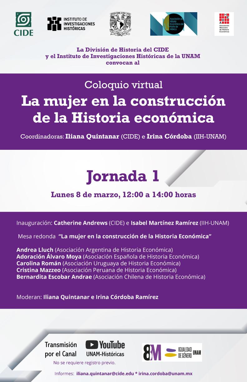 Coloquio virtual: La mujer en la construcción de la Historia económica